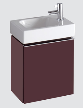 Twyford 3D 380mm Handrinse Basin And Plum Finish Vanity Unit