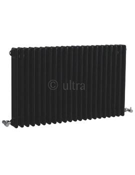 Ultra Colosseum High Gloss Black Triple Column 1011 x 600mm Radiator