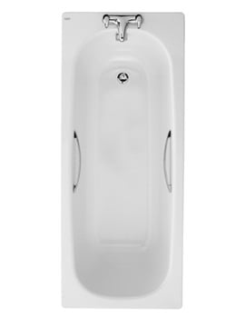 Twyford Celtic Plain Steel Bath 1700 x 700mm With Legs And Grips