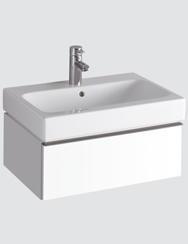 Twyford 3D 600mm Basin And Alpine White Single Drawer Vanity Unit
