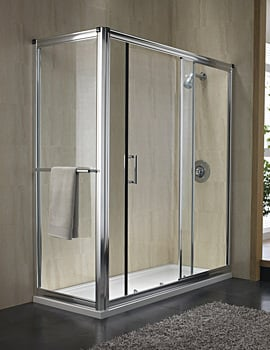 Twyford Hydr8 Sliding Shower Door 1400mm