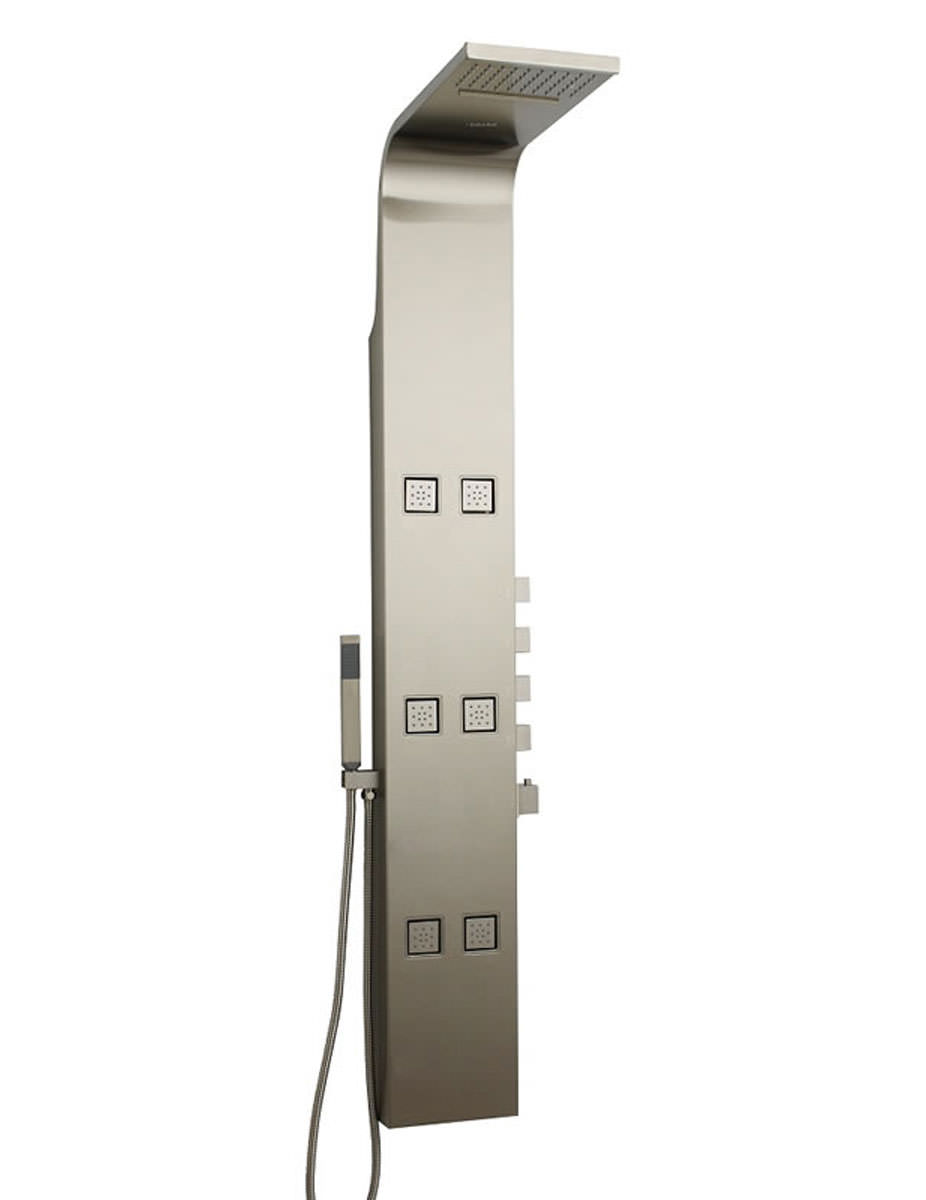 hudson reed astral thermostatic shower panel stainless steel. Black Bedroom Furniture Sets. Home Design Ideas