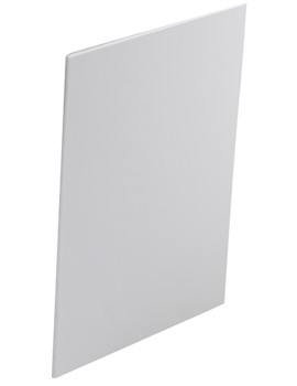 Twyford Indulgence Offset White Bath End Panel 500mm