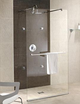 Twyford Hydr8 Walk Through Shower Panel 1200mm