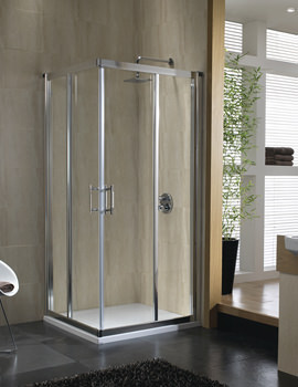 Twyford Geo6 Corner Entry Shower Enclosure 900 x 1900mm