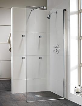 Twyford Hydr8 Walk In Flat Shower Panel 1200mm
