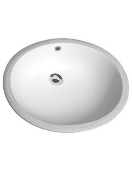 Twyford Aria 550 x 465mm Under Countertop Basin Back Overflow