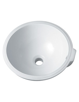 Twyford Aria Centric 380mm Diameter Under Countertop Basin