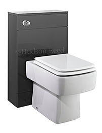 Hudson Reed Memoir 500mm Back To Wall WC Unit - Gloss Grey