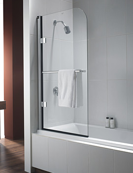 Twyford Hydr8 Radius Bath Screen 800 x 1500mm Left Handed
