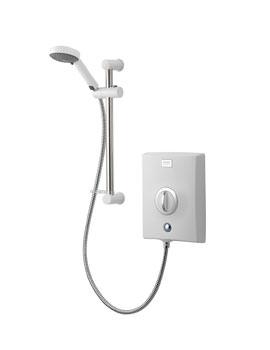 Aqualisa Quartz 8.5kW Electric Shower White And Chrome