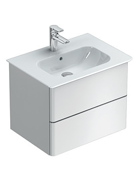 Ideal Standard Softmood 600mm Wall Hung Basin Unit Gloss White