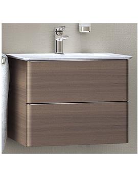 Ideal Standard Softmood 60cm Wall Hung Basin Unit Walnut