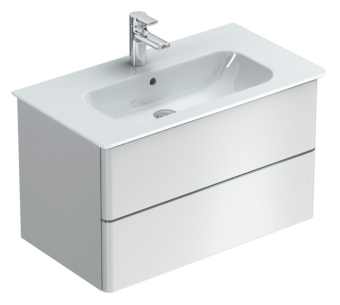 Ideal Standard Softmood 80cm Wall Hung Basin Unit Gloss White