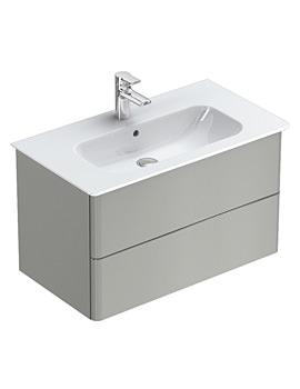 Ideal Standard Softmood 800mm Wall Hung Basin Unit Gloss Grey