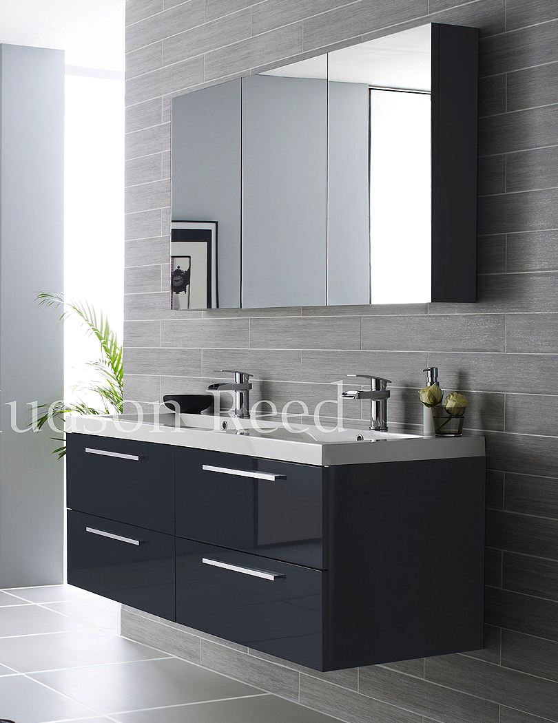 Hudson Reed Quartet High Gloss Grey Bathroom Furniture Pack