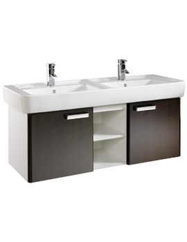 Twyford Galerie Plan Wenge Furniture Unit And 1300mm Double Basin