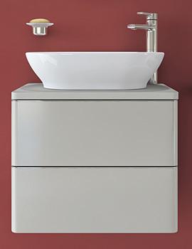 Ideal Standard Softmood 600mm Wall Hung Basin Unit Gloss Grey