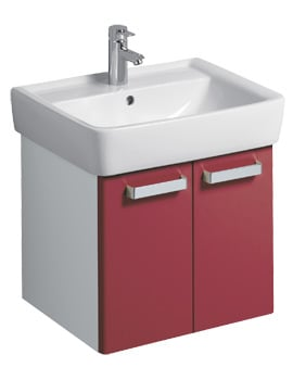 Twyford Galerie Plan 530 x 445mm Red Finish Underbasin Furniture Unit