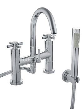 Hudson Reed Tec Crosshead Chrome Bath Shower Mixer Tap