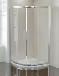 April Prestige 1000 x 800mm Double Door Offset Quadrant Shower Enclosure