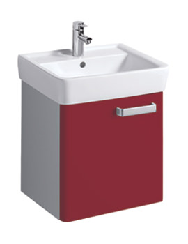 Twyford Galerie Plan Red Finish Underbasin Furniture Unit And 550mm Basin