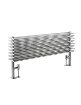 Hudson Reed Fin 1000x504mm Double Panel Horizontal Radiator - Silver