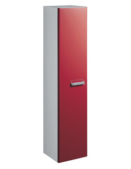 Twyford Galerie Plan 390 x 1730mm Red Finish Tall Furniture Unit