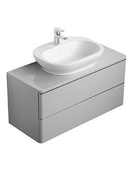 Ideal Standard Softmood 1000mm Wall Hung Basin Unit Gloss Grey