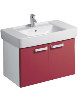 Twyford Galerie Plan Red Finish Underbasin Furniture Unit And 850mm Basin