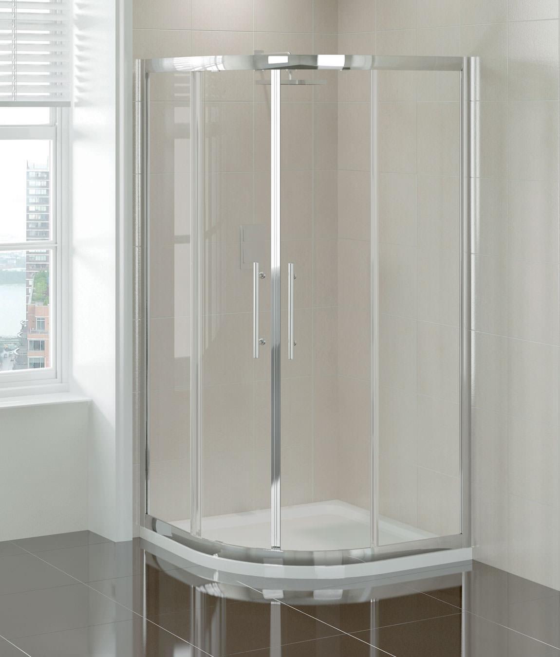 April prestige double door quadrant shower enclosure 1000 for Door quadrant