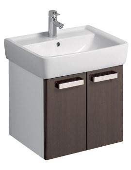 Twyford Galerie Plan 530 x 445mm Wenge Finish Underbasin Furniture Unit