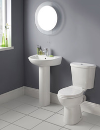 Lauren Brisbane White 4 Piece Cloakroom Suite