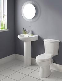 Lauren Brisbane White 4 Piece Cloakroom Suite