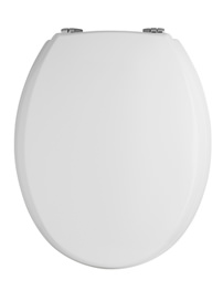 Lauren Traditional Round Bottom Fix Wooden Toilet Seat With Chrome Hinges