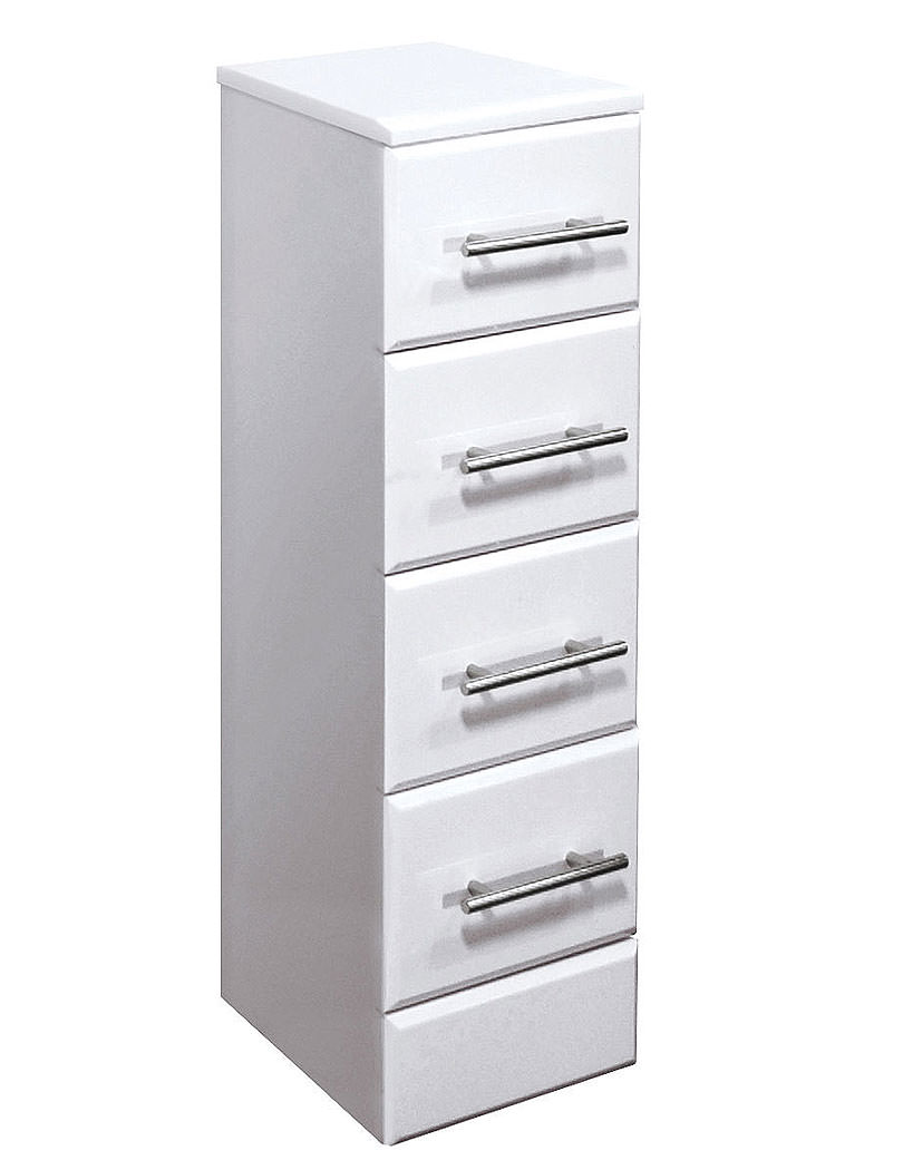 Lauren high gloss white 4 drawer unit 300 x 300mm for 300mm deep kitchen units