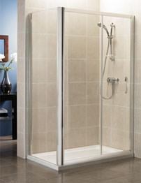 April Identiti2 1200mm Sliding Shower Door - Silver