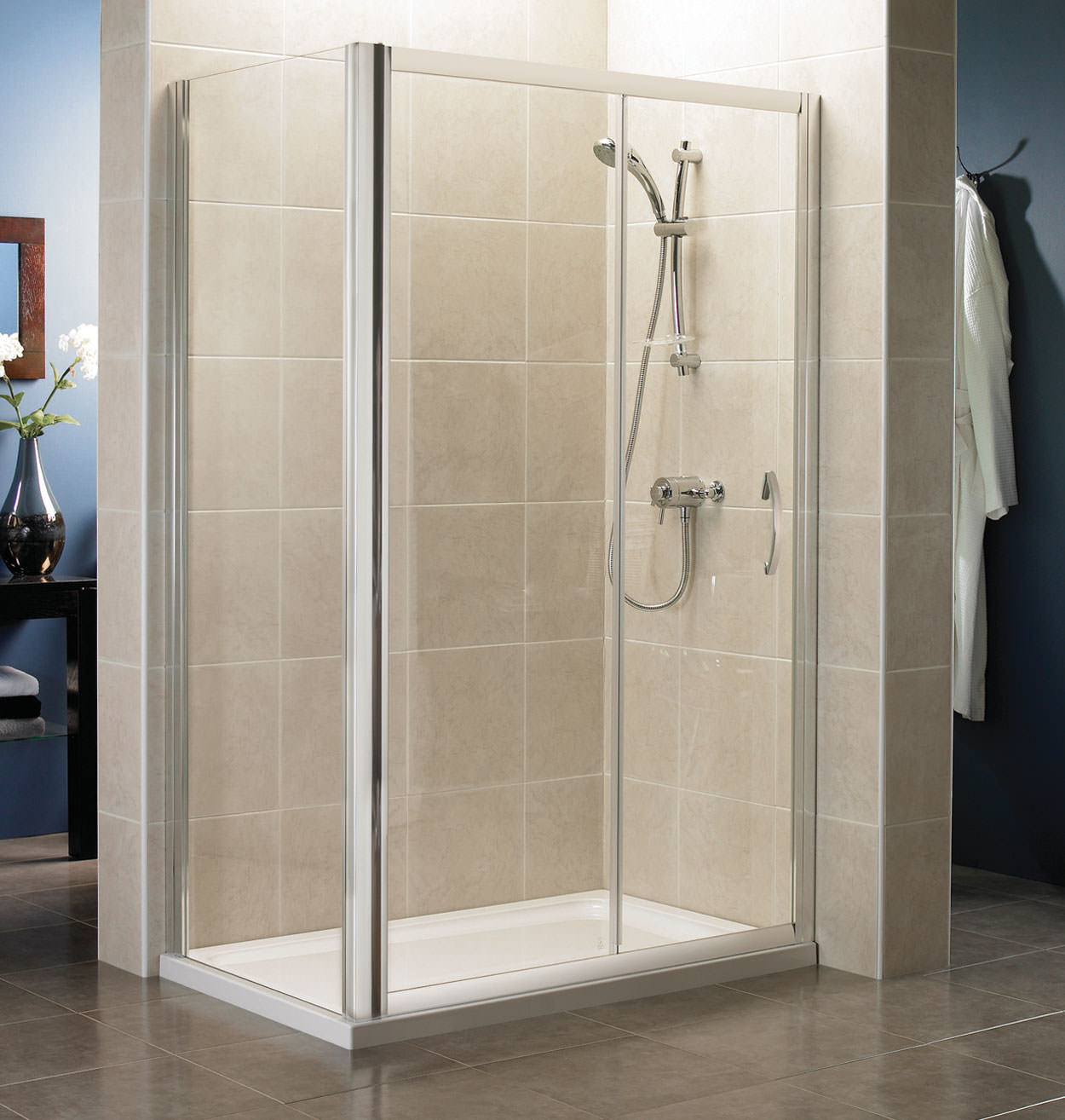 April identiti2 1200mm sliding shower door silver for 1200mm shower door sliding
