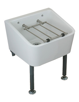 Twyford Cleaners Fireclay Sink With Grating 465 x 400mm