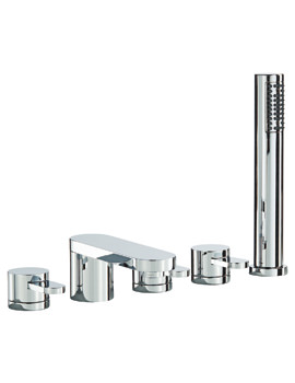 Mayfair Ceilo 5 Hole Bath Shower Mixer Tap Set With Shower Handset