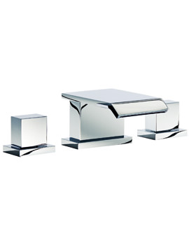 Mayfair Rio 3 Hole Basin Set With A Click Clack Waste Chrome