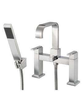 Mayfair Flow Deck Mounted Bath Shower Mixer Tap With Shower Handset