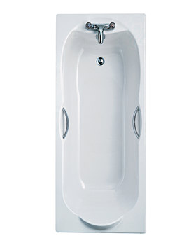 Ideal Standard Alto 1700 x 750mm Idealform No Taphole Bath With Grips