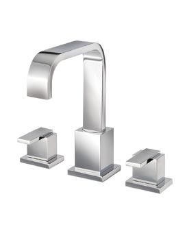 Mayfair Flow 3 Hole Bath Set Chrome