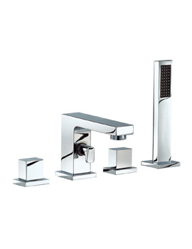 Mayfair Blox 4 Hole Bath Shower Mixer Tap With Handset