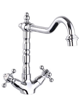 Mayfair French Classic Kitchen Mono Sink Mixer Tap Chrome
