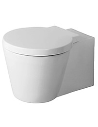 Duravit Starck 1 Wall Mounted Toilet 640mm With Seat And Cover