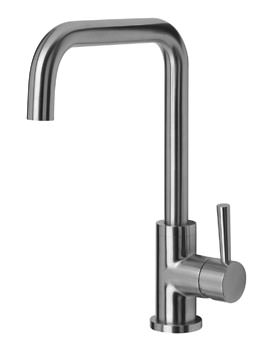 Mayfair Melo Glo Mono Sink Mixer Tap With LED Pull Out Handset Steel