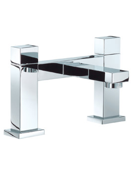 Mayfair Blox Deck Mounted Bath Filler Tap Chrome