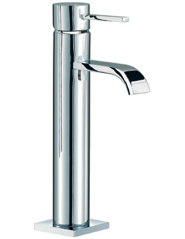 Mayfair Wave Lever Freestanding Medium Mono Basin Mixer Tap